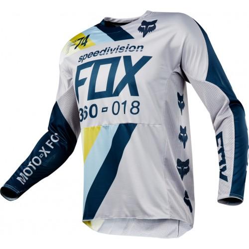 FOX MEN'S MX 360 DRAFTR JERSEY GREY 2018