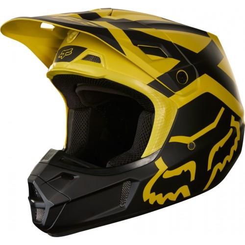 FOX Adult V2 Preme Helmet Dark Yellow 2018