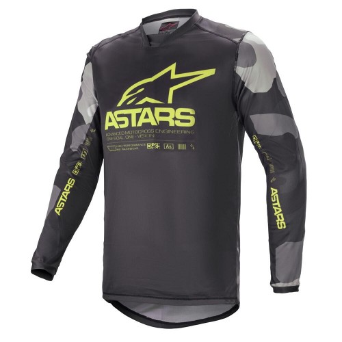 Alpinestars Men's Racer Tactical Jersey Camo Yellow