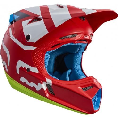 FOX Adult V3 Creo Helmet Red 2017