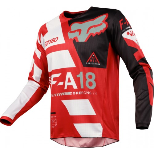 FOX Men's MX 180 Sayak Jersey Red 2018