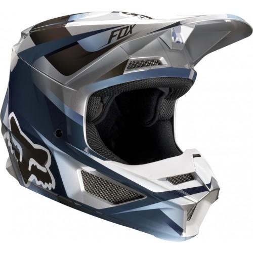 FOX Adult V1 Motif Helmet Blue/Grey 2019