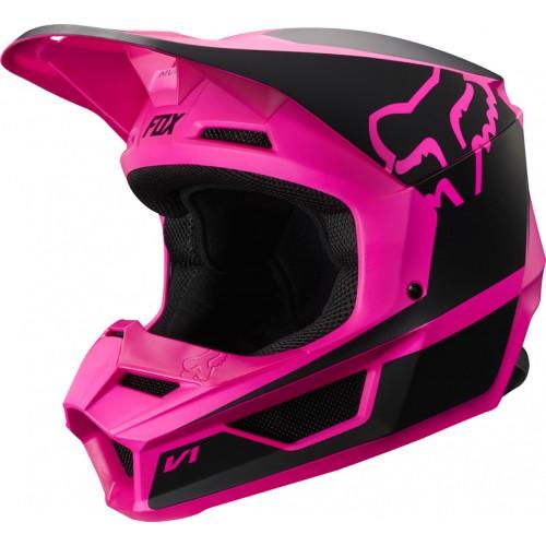 FOX Adult V1 Przm Helmet Black/Pink 2019