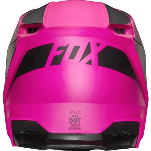 FOX Youth V1 Przm Helmet Black/Pink 2019