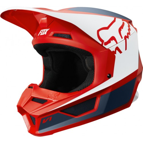 FOX Adult V1 Przm Helmet Navy/Red 2019